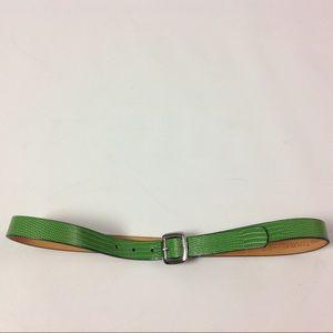 Banana Republic Green Belt Genuine Italian Leather